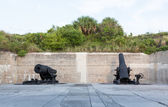 Old artillery guns at Fort de Soto Florida — Stock Photo