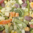 Background of different  frozen vegetables — Stock Photo