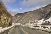 Gürcü askeri yolun bir bölümünü — Stok fotoğraf
