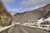 Tramo de la carretera militar georgiana — Foto de Stock