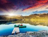 Black lake in Durmitor national park — Stock Photo