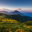 Majestic sunset in the mountains landscape. — Stock Photo #31366145