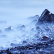 Soft fog on the shoreline — Stock Photo