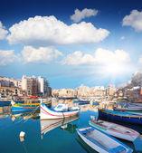 Boats in the mediterranean island of Malta. — Stock Photo