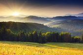 закат в горах — Стоковое фото