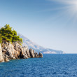 Azure sea over Budva riviera. — Stock Photo