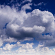 fluffy clouds — Stock Photo