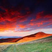 Morgen in den bergen — Stockfoto