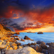 Sunset over the sea — Lizenzfreies Foto