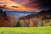 Ochtend in bergen — Stockfoto