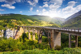 Big bridge in the canyon — Stock Photo