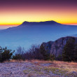 Majestic morning mountain landscape — Stock Photo