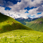Alpine meadows with dramatic sky — Stock Photo #32165521
