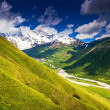 Alpine hills and mountains in Alps — Stock Photo