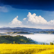 Sunny day is in mountain landscape — Foto de Stock