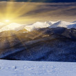 Sunset in the winter mountains — Stock Photo #32165851