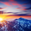 Majestic sunset in the mountains — Stock Photo #32166175