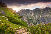 Sky before storm in the mountains — Stock Photo