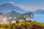 Andscape over coastline — Stock Photo
