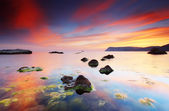 Zomer zonsondergang over de se — Stockfoto