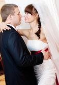 Beautiful bride and groom — Foto de Stock