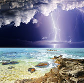 Summer storm — Stock Photo