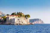 Small islet and resort in Montenegro — Stock Photo
