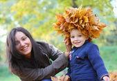 Moeder en baby boy — Stockfoto