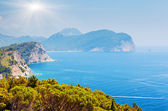 Landscape over Montenegro coastline — Stock Photo