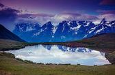 Landschaft mit See-koruldi — Stockfoto