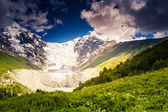 Alpine meadows of Tetnuldi glacier — Stock Photo