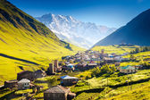 Ushguli in Georgia — Stock Photo