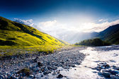 River in mountain valley — Stock Photo