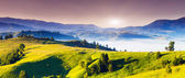 Fantastic morning Carpathian mountains — Stock Photo