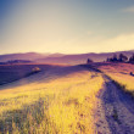 Sunny hills under morning sky — Stock Photo #49312283