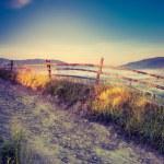 Sunny hills under morning sky — Stock Photo #49312285