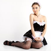 Sexy French maid. — Stock Photo