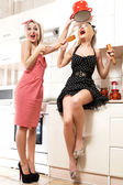 Womens chefs cooking in the kitchen. — Stockfoto