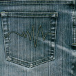 Blue jeans with pocket to background. — Stok Fotoğraf #35356159