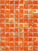 Glass orange colour tiles. — Zdjęcie stockowe