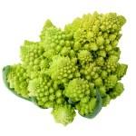 One whole Romanesco broccoli (Brassica oleracea) on a white background. — Stock Photo #39704895