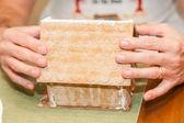 Gingerbread House Workshop — ストック写真