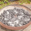 Stock Photo: Charcoal briquettes