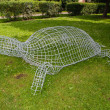 Foto Stock: Topiary wire cage.