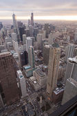 Chicago skyline from the hancock tower — Stock Photo