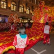 Chinese New Year Parade in Chinatown — Stock Photo