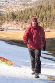 Karda aile eğlence — Stok fotoğraf