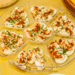 Stock Photo: Deviled eggs