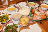 Thanksgiving dinner — Stok fotoğraf