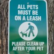 Stock Photo: All Pets Must Be On Leash